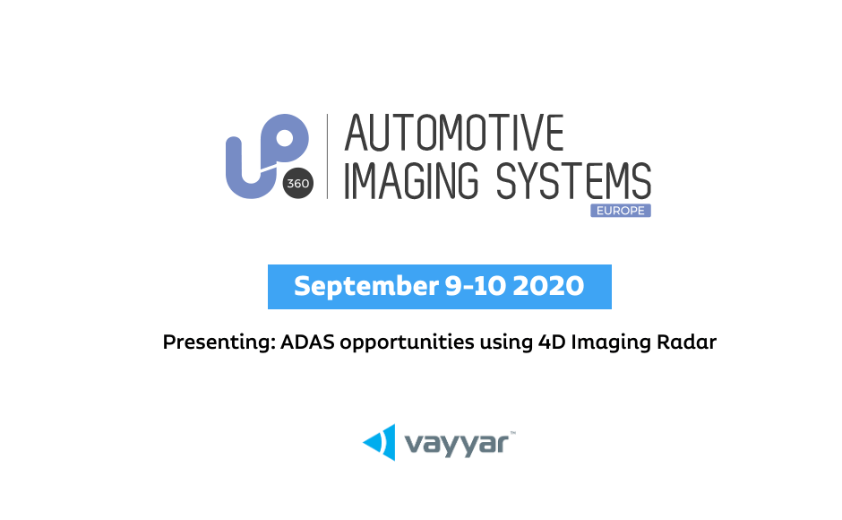 Join Vayyar on September 9 for Automotive Imaging Systems 2020 event!