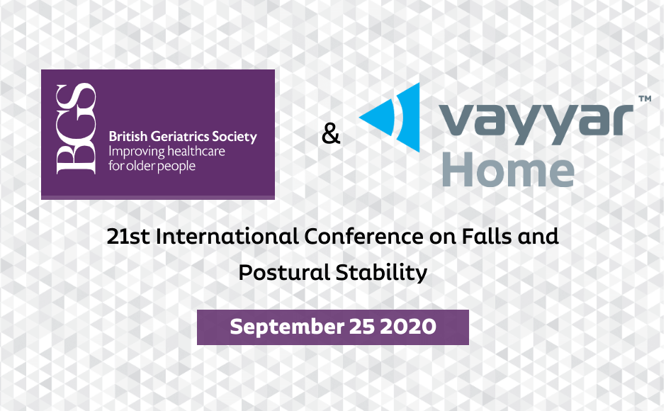Meet Vayyar Home at 21st International Conference on Falls and Postural Stability 2020 virtual event