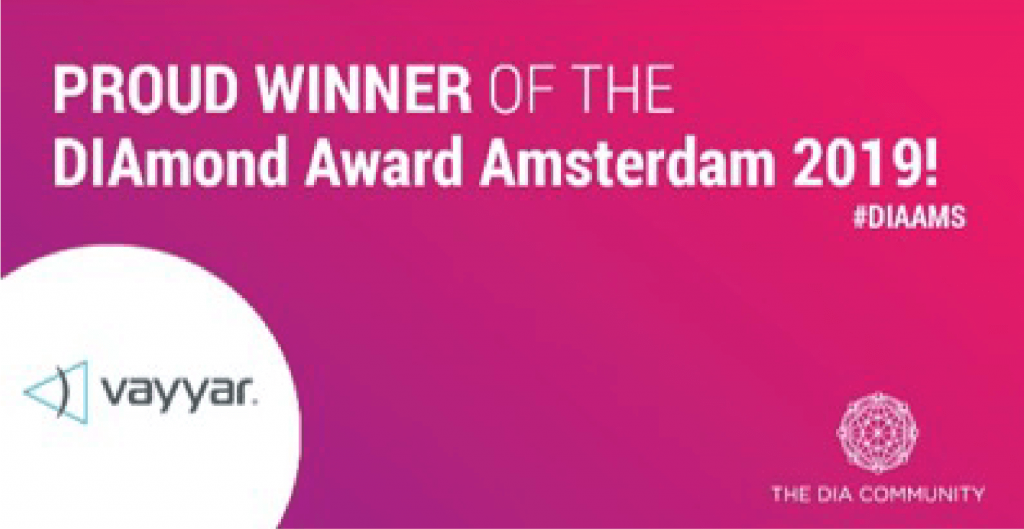 Proud Winner of the DIAmond Award Amsterdam 2019