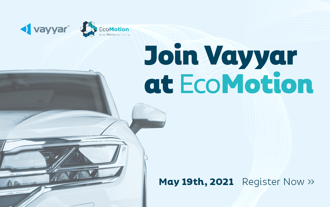 Join Vayyar at EcoMotion May 19th, 2021, Register now