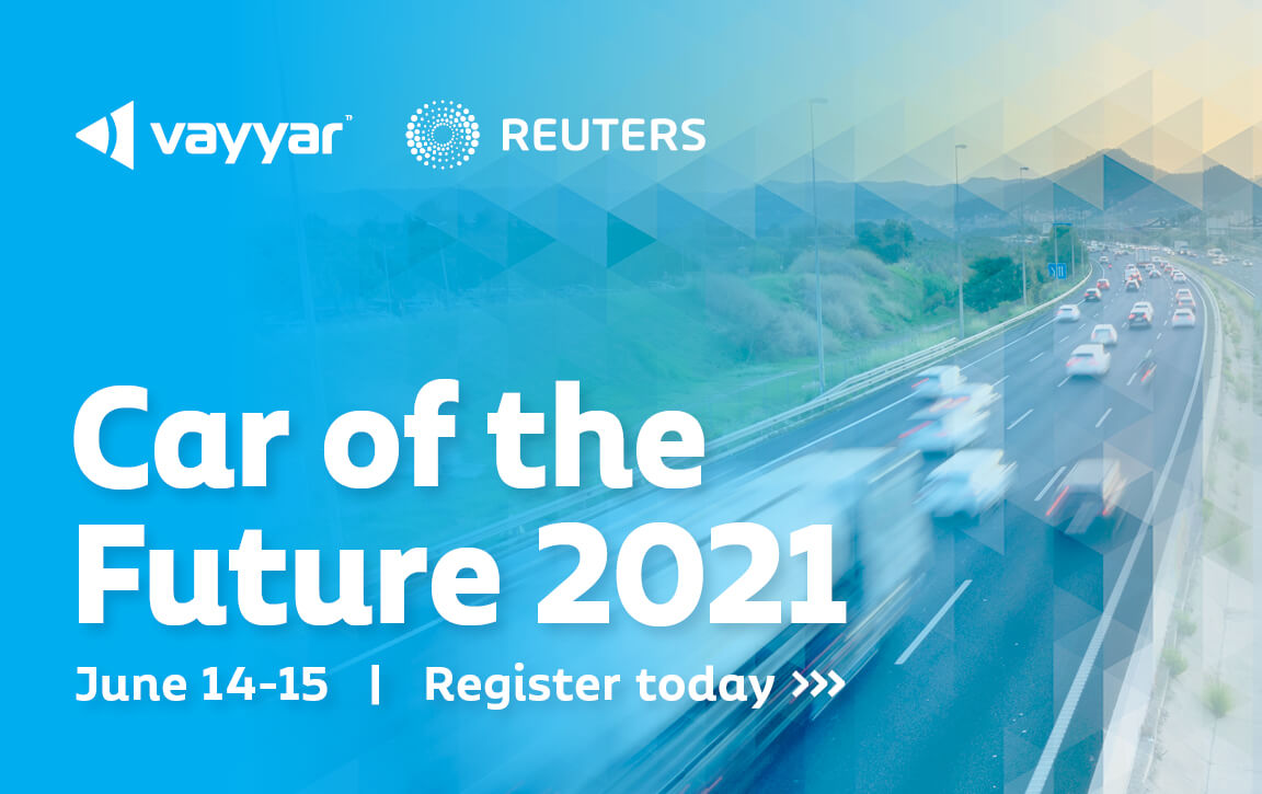 Vayyar and Reuters present Car of the Future 2021, June 14-15, Register today
